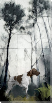 Pointer Dog 1 Wrapped Canvas Giclee Print Wall Art