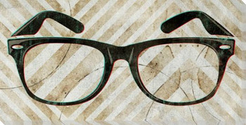 Jim's Glasses Wrapped Canvas Giclee Print Wall Art