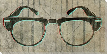 Frank's Glasses Wrapped Canvas Giclee Print Wall Art