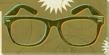 Double Vision Glasses Wrapped Canvas Giclee Print Wall Art