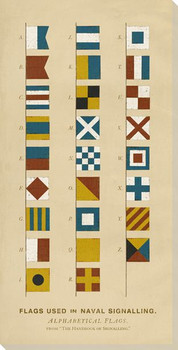 Intl. Maritime Signal Alphabet Flags Wrapped Canvas Giclee Print