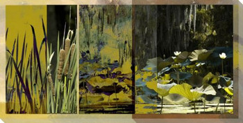 Lotus Flower Panel II Wrapped Canvas Giclee Print Wall Art