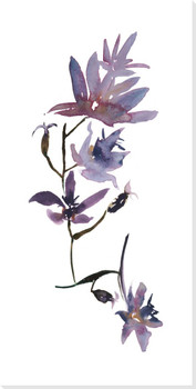 Floral Watercolor Flower IV Wrapped Canvas Giclee Print Wall Art