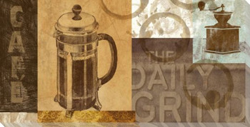 The Daily Grind Coffee Wrapped Canvas Giclee Print Wall Art