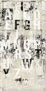 White Noise Letters Wrapped Canvas Giclee Print Wall Art
