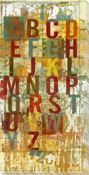 Red Language Letters Wrapped Canvas Giclee Print Wall Art