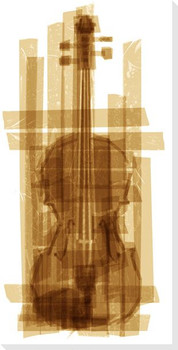 Taped Violin Wrapped Canvas Giclee Print Wall Art