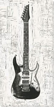 Rock & Roll Guitar Wrapped Canvas Giclee Print Wall Art