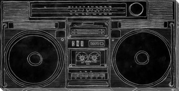 Double Deck Boom Box Wrapped Canvas Giclee Print Wall Art