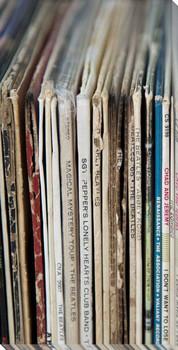 Vintage Vinyl III Wrapped Canvas Giclee Print Wall Art