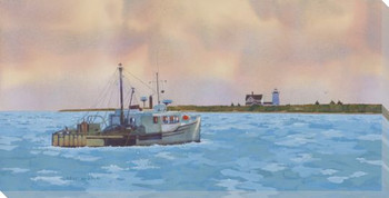 Chatham Dredger Ship Wrapped Canvas Giclee Print Wall Art