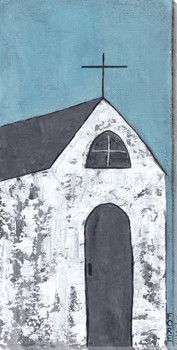 Going To Church Wrapped Canvas Giclee Print Wall Art