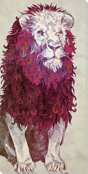 Lion Sitting Wrapped Canvas Giclee Print Wall Art