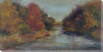 Downstream Wrapped Canvas Giclee Print Wall Art