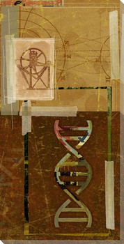 Science Machine with Symbolic DNA Wrapped Canvas Giclee Print