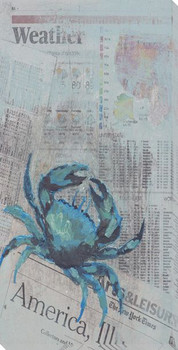 Blue Crab Wrapped Canvas Giclee Print Wall Art