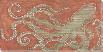 Unwounded Octopus Wrapped Canvas Giclee Print Wall Art