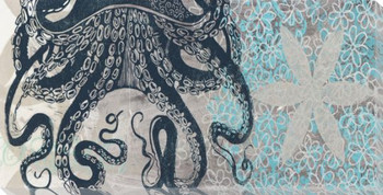 Underwater Garden Octopus Wrapped Canvas Giclee Print Wall Art