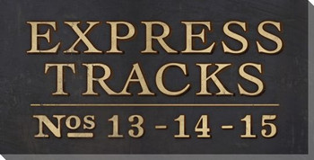 Express Tracks Sign Wrapped Canvas Giclee Print Wall Art