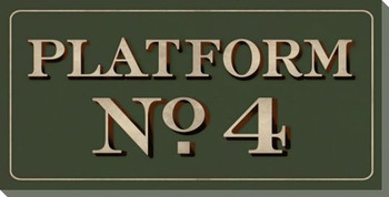 Platform No. 4 Sign Wrapped Canvas Giclee Print Wall Art