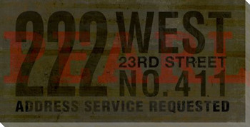 Pearl Address Service Requested Sign Wrapped Canvas Giclee Print