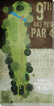 9th Hole Golf Wrapped Canvas Giclee Print Wall Art