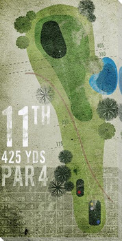 11th Hole Golf Wrapped Canvas Giclee Print Wall Art