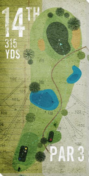 14th Hole Golf Wrapped Canvas Giclee Print Wall Art