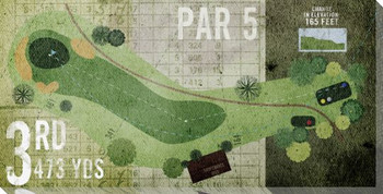 3rd Hole Par 5 Golf Wrapped Canvas Giclee Print Wall Art