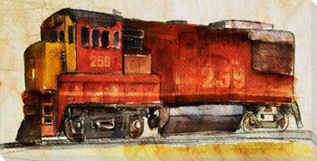 Locomotive 259 Wrapped Canvas Giclee Print Wall Art