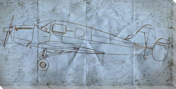 Flying Low Airplane Wrapped Canvas Giclee Print Wall Art