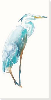 Blue Heron Bird Wrapped Canvas Giclee Print Wall Art