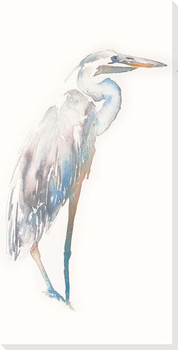 White Heron Bird Wrapped Canvas Giclee Print Wall Art