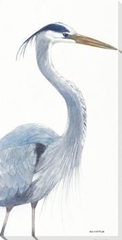 Blue Heron Bird Pose I Wrapped Canvas Giclee Print Wall Art