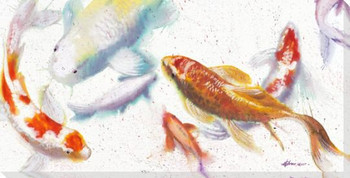 Koi Fish 1 Wrapped Canvas Giclee Print Wall Art