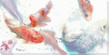 Koi Fish 2 Wrapped Canvas Giclee Print Wall Art