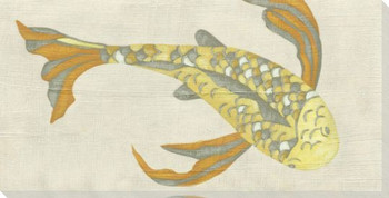 Koi Fish V Wrapped Canvas Giclee Print Wall Art