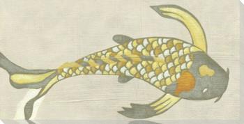 Koi Fish IV Wrapped Canvas Giclee Print Wall Art