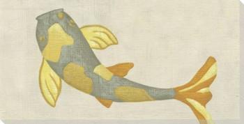 Koi Fish VII Wrapped Canvas Giclee Print Wall Art