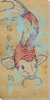 Tattoo Koi Fish II Wrapped Canvas Giclee Print Wall Art