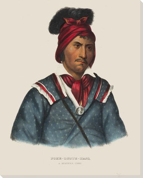 Foke-Luste-Hajo a Seminole Chief Native American Canvas Print