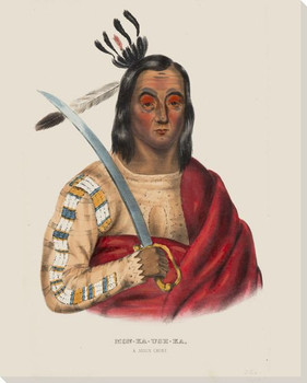 Mon-Ka-Ush-Ka a Sioux Chief Native American Canvas Giclee Print