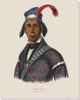 Yaha-Hajo a Seminole War Chief Native American Canvas Giclee Art Print