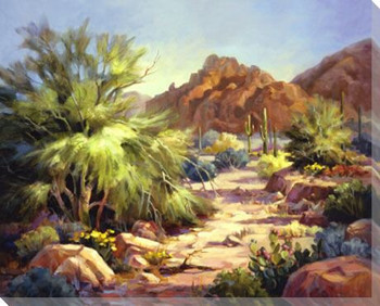 Desert Beauty Wrapped Canvas Giclee Print Wall Art