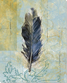 Right Feather Wrapped Canvas Giclee Print Wall Art