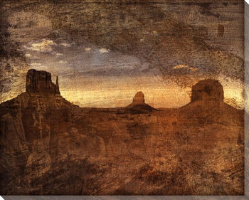 Mesa Sunset I Wrapped Canvas Giclee Print Wall Art