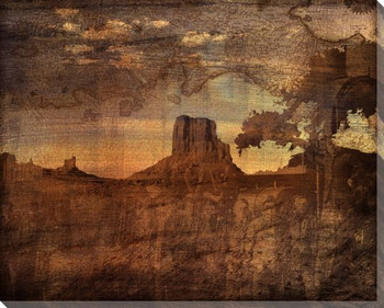Mesa Sunset II Wrapped Canvas Giclee Print Wall Art