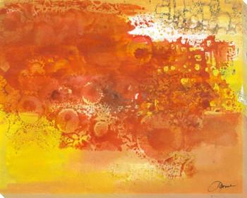 Poppy Fields 1 Wrapped Canvas Giclee Print Wall Art