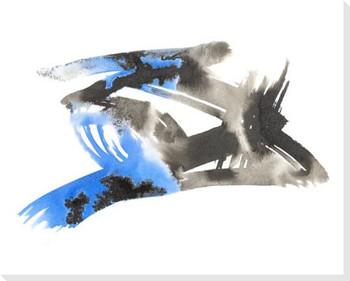 Stigma Blue 2 Wrapped Canvas Giclee Art Print Wall Art