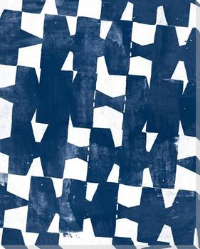 Indigo Abstract 3 Wrapped Canvas Giclee Art Print Wall Art